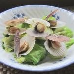 ほたて稚貝とキャベツの蒸し煮(4人分)
