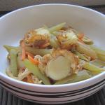 ほたて稚貝とふきの煮物(4人分)